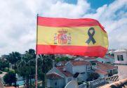 Drapeau de la  drapeau funéraire du peuple espagnol
